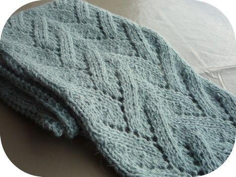 tricoter une echarpe tutoriel