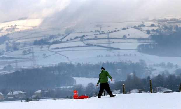 Sledging in Halifax,  West Yorkshire