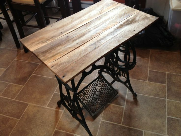 rustic sewing machine table