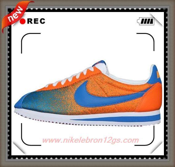 Where Can I Find 599436-800 Nike Classic Cortez Nylon PRM Orange/Military Blue