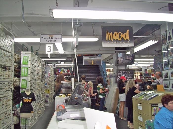 """Shop at Mood fabric store NYC """"thank you, mood!"""""""