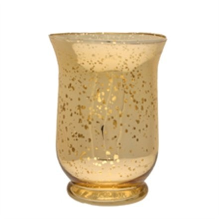 25cm Champagne Gold Distressed Hurricane Vase My Dream