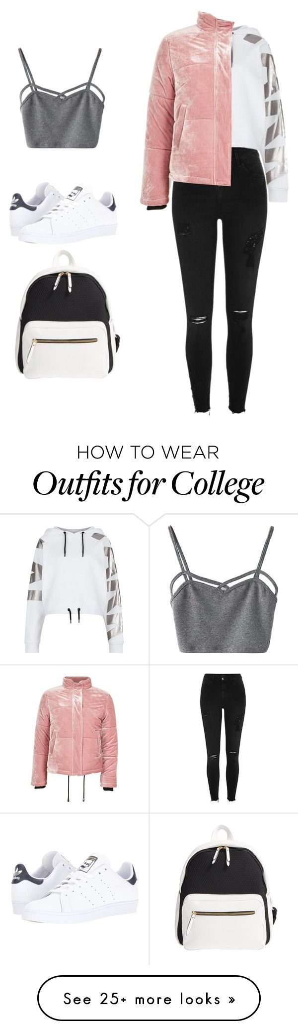 """poverty"" by ludopolier on Polyvore featuring Poverty Flats, River Island, Ivy Park, adidas, WithChic and Topshop"