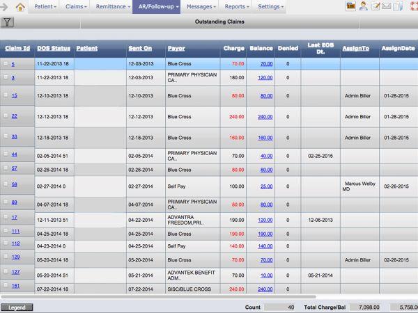 PrognoCIS by Bizmatics - Billing interface