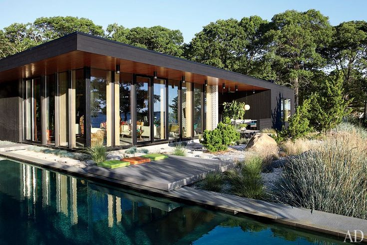 The flat roof conceals solar panels by GreenLogic Energy. - Jonathan Adler's home