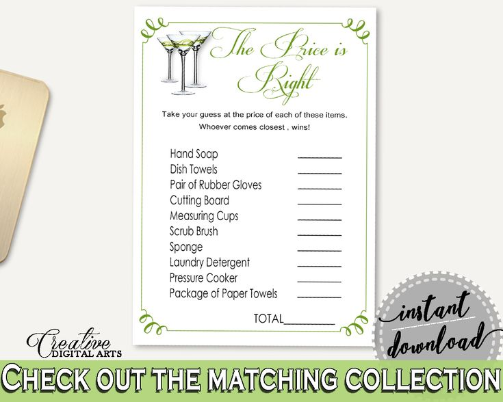 Price Is Right Bridal Shower Price Is Right Modern Martini Bridal Shower Price Is Right Bridal Shower Modern Martini Price Is Right ARTAN #bridalshower #bride-to-be #bridetobe