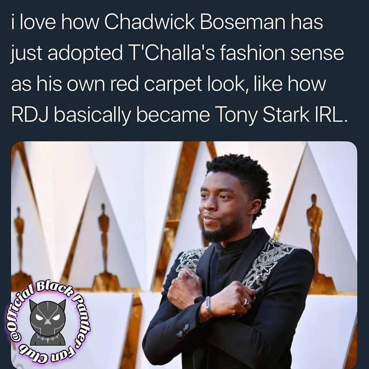 He realizes that he REALLY is the Black Panther forever!!! Have you noticed how @chadwickboseman wears black all of the time now!
