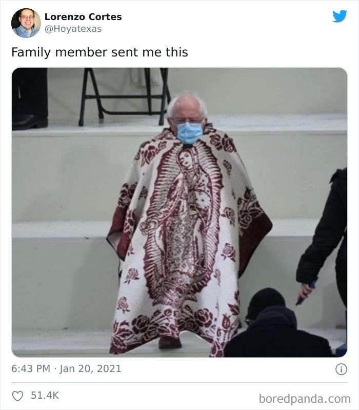 40 Of The Funniest Memes People Created After Bernie Sanders Was Captured Sitting Alone During Inauguration In 2021 Warm Dresses Entire Outfit Latest Outfits
