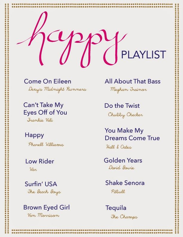(*) happy playlist