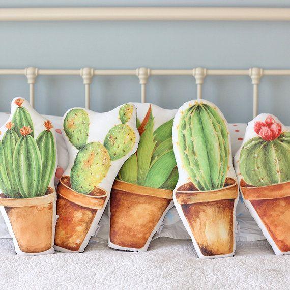 Kaktus Kissen lange Spikes von TheFoxintheAttic auf Etsy