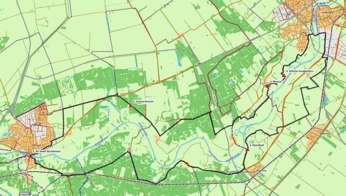 GPS-fietsroute Ommen – Hardenberg (44 km) # Geniet van het mooie Vechtdal, waarin het landschap steeds verder wordt hersteld naar de situatie van vroeger en waarin de Vecht weer mag meanderen!