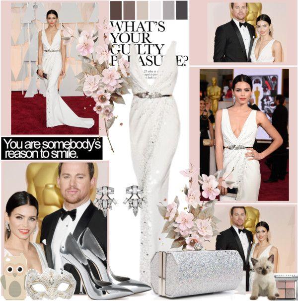 """Oscars 2015: Jenna Dewan"" by abcde-979 ❤ liked on Polyvore"