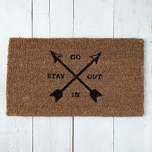 Coir Doormat - Go In, Stay Out