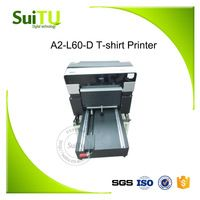 Digital T-shirt printer A2-L60-D Flatbed printer Direct to garment label textile printing machine
