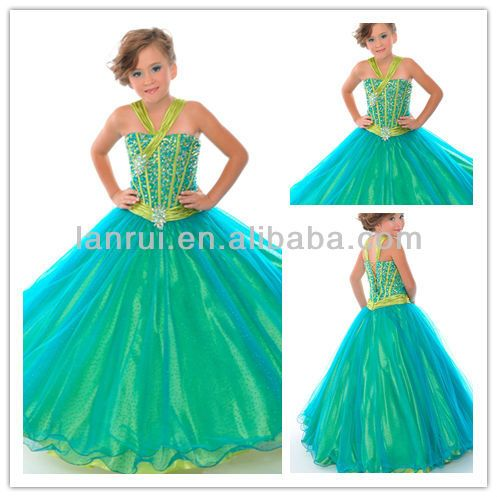 Corset back beaded bodice organza dresses for girls of 10 for 10 year old dresses for weddings