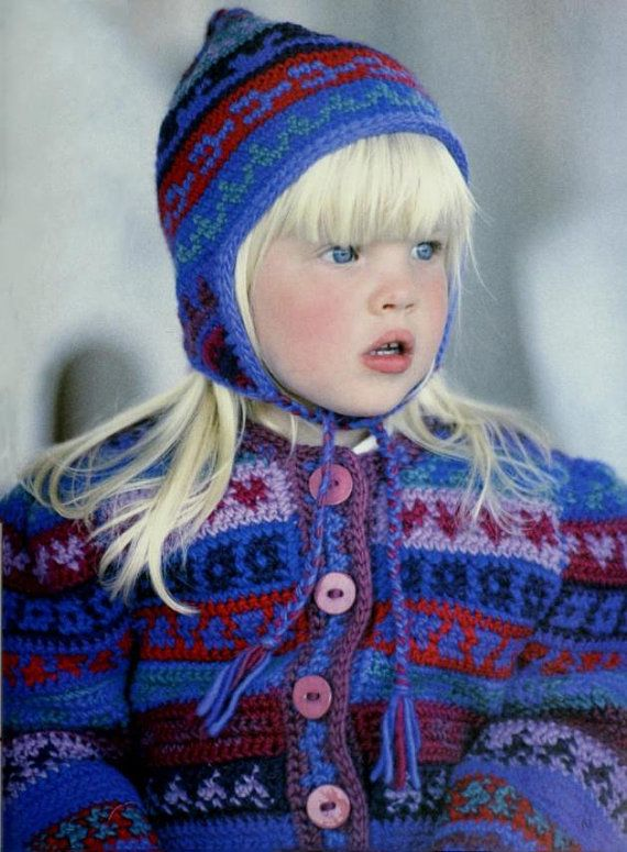 DK Crochet Fair Isle Jacket and Hat Toddler Child pattern at https://www.etsy.com/listing/587412038/dk-crochet-fair-isle-jacket-and-hat