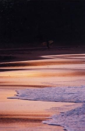Sandy Bay evening surfer. Bliss.