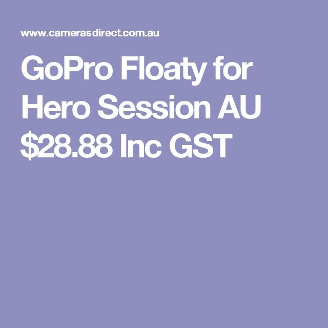 GoPro Floaty for Hero Session  AU $28.88 Inc GST