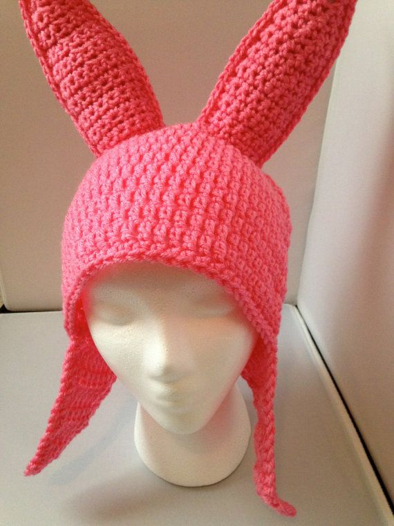 PATTERN ONLY Pink Bunny Ear Hat by emilytaylorcrochet on Etsy