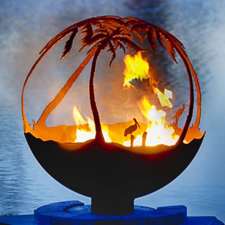 """Another Day in Paradise 37"""" Hand Crafted Steel Fire Pit"""
