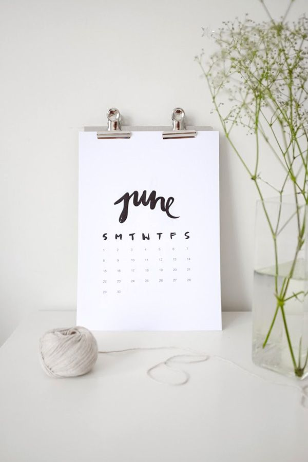 <3 DIY: Free printable calendar