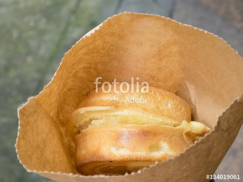 """Download the royalty-free photo """"The close up of Japanese red bean cake dessert in brown paper bag."""" created by phasuthorn at the lowest price on Fotolia.com. Browse our cheap image bank online to find the perfect stock photo for your marketing projects!"""