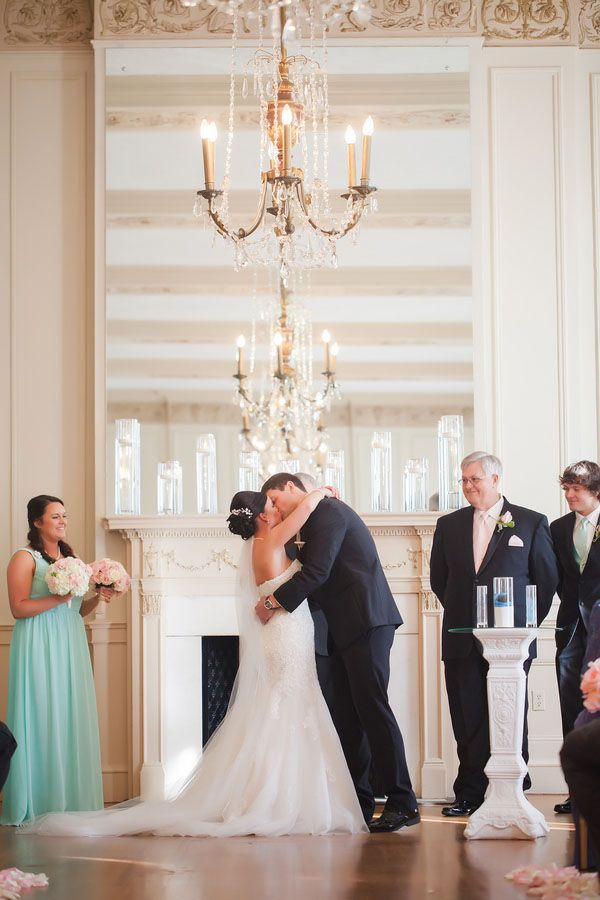 A Blush and Gold Wedding at the Hotel Concord | Woman Getting Married