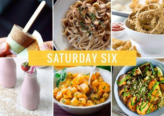 Saturday Six | Vegan Creamsicles, Mushroom Stroganoff, and Quinoa Smoothies