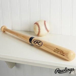 Personalized Wooden Baseball Bat This is a youth-size Rawlings baseball bat. It is made of  solid Northern White Ash wood and has a natural finish.  http://awsomegadgetsandtoysforgirlsandboys.com/cool-gadgets-for-teenage-guys/ Cool Gadgets For Teenage Guys: Personalized Wooden Baseball Bat