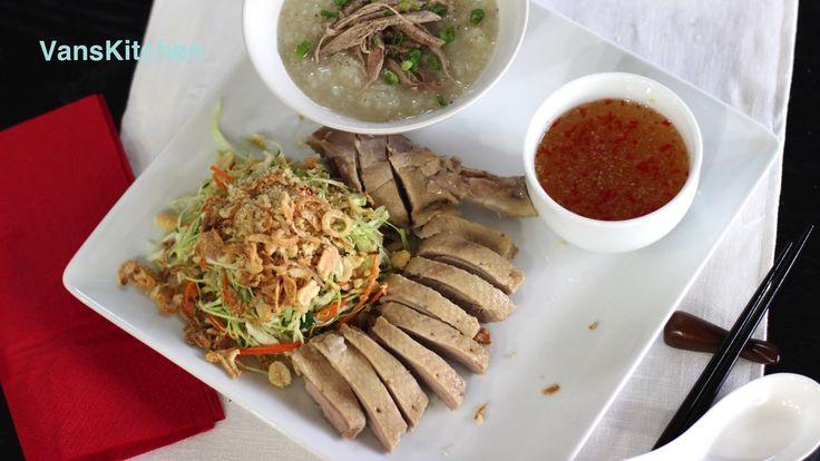 Duck congee and cabbage salad (Cháo vịt và Gỏi vịt)