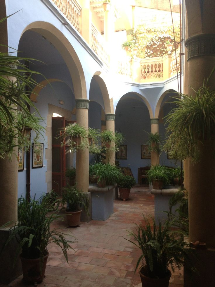 Beautiful Spanish Patio In Torroella De Montgri, Catalonia, Spain