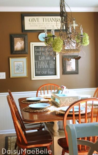 Southern comfort treasured home tour inspiration for Dining room wall murals