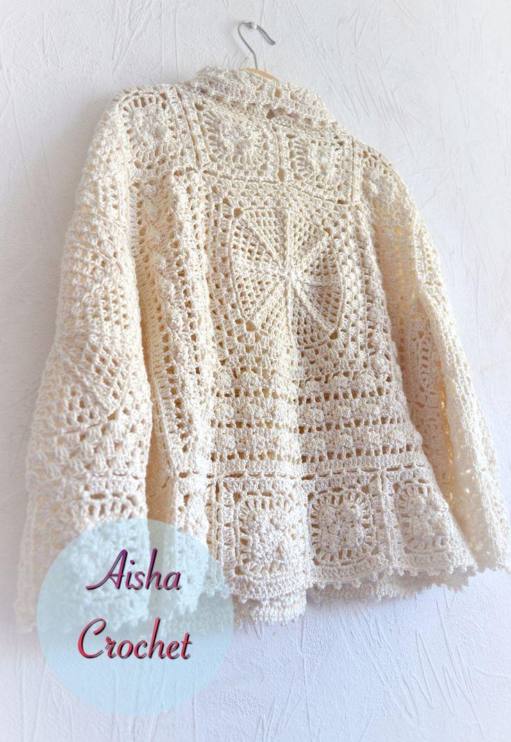 Boho cardigan Angiu by Aisha crochet