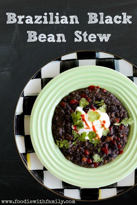 Brazilian Black Bean Stew | www.foodiewithfamily.com