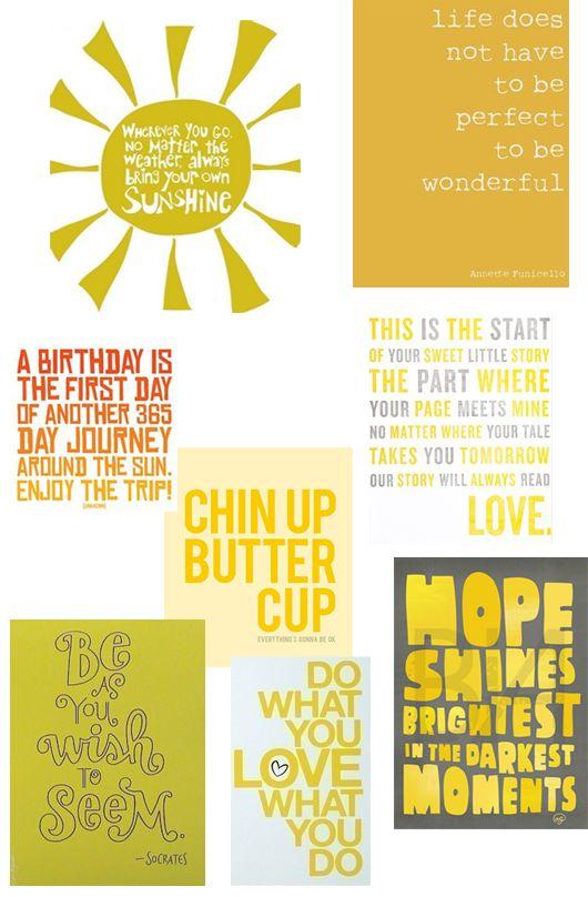 pinterest yellow quotes