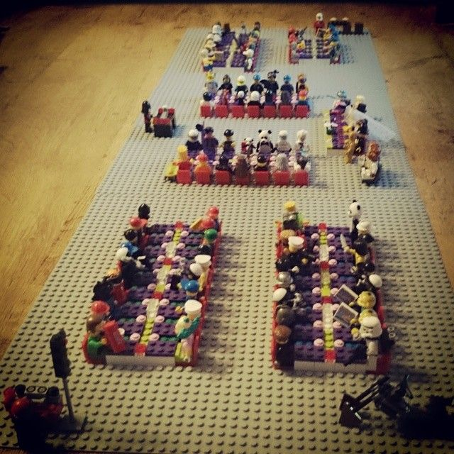 Another brilliant wedding table plan made using Lego mini figures.