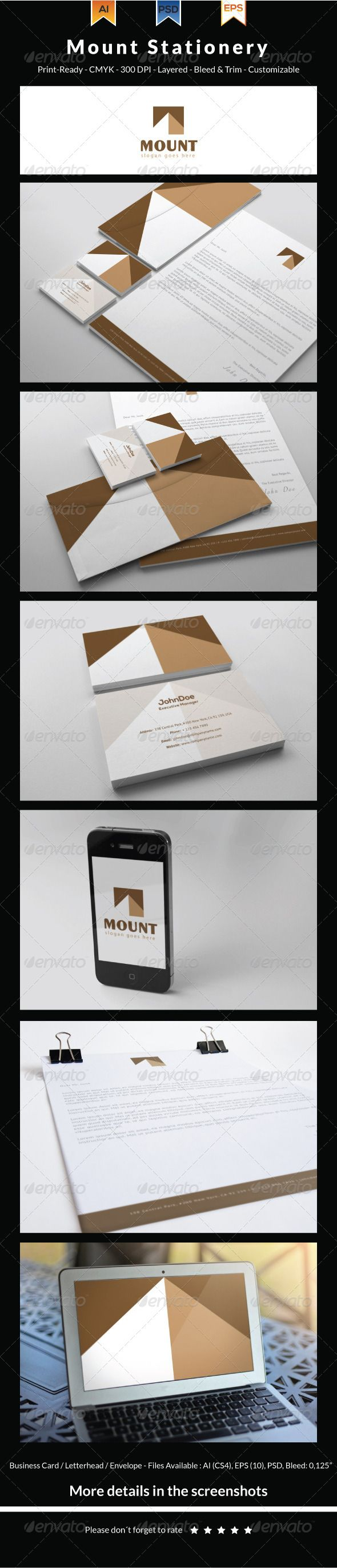 Mount Stationery  Stationery Set Letterhead Template And Ai