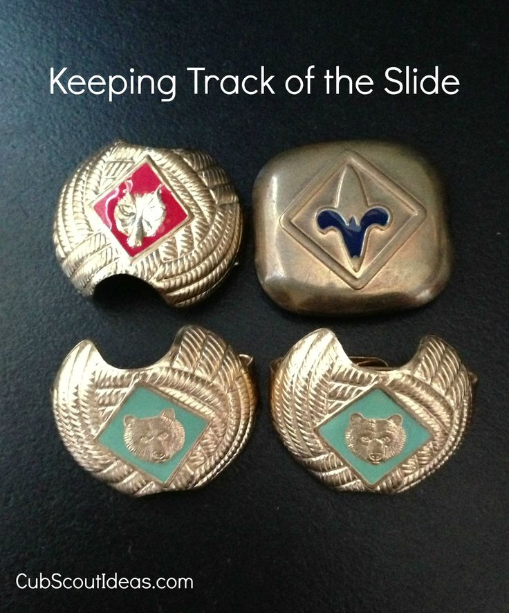 When the boys are running around, they tend to lose their Cub Scout neckerchief slides. There is an easy way to make sure it stays on his neckerchief.