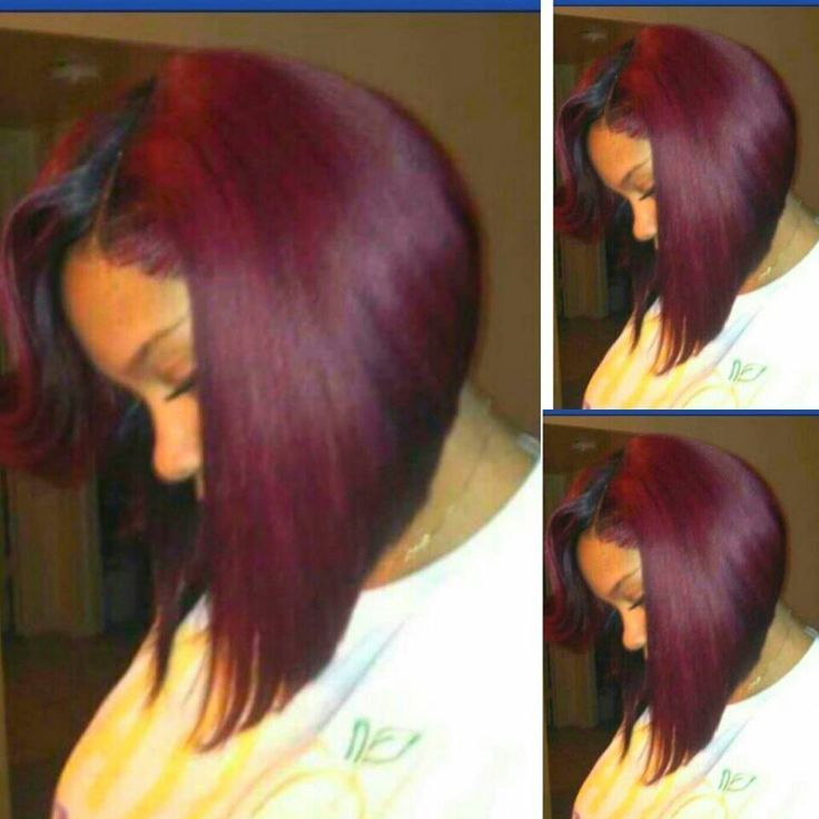 Plum Bob - http://www.blackhairinformation.com/community/hairstyle-gallery/relaxed-hairstyles/plum-bob/ #relaxedhairstyles