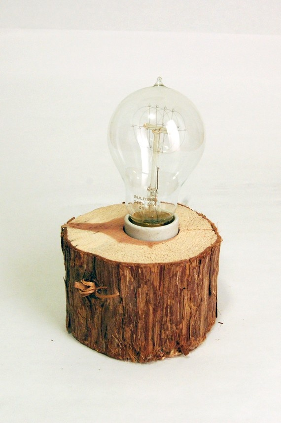 cut cedar lamp from etsy seller yellowsquarelove. sigh. does not get more beautiful than this