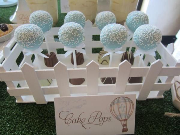 Hot Air Balloon Up Boy Christening Birthday Party Planning Ideas