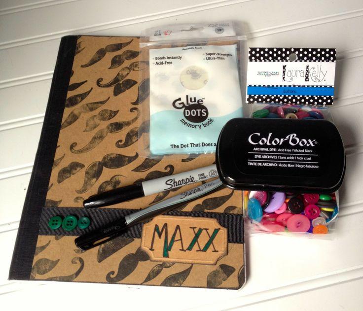 Movember mustache craft idea supplies