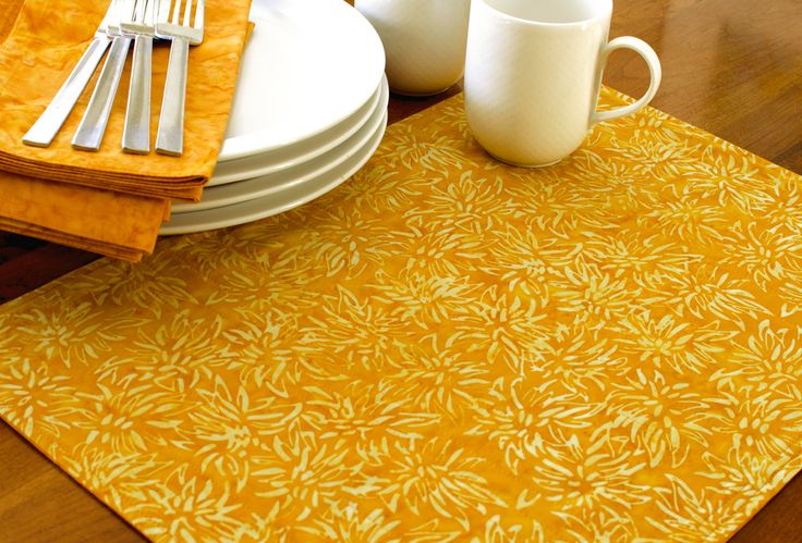 Looking for contemporary placemats? You'll love these! We've created a line of 6 reversible batik fabric placemats for you to choose from. They are machine washable and designed to be used for years t