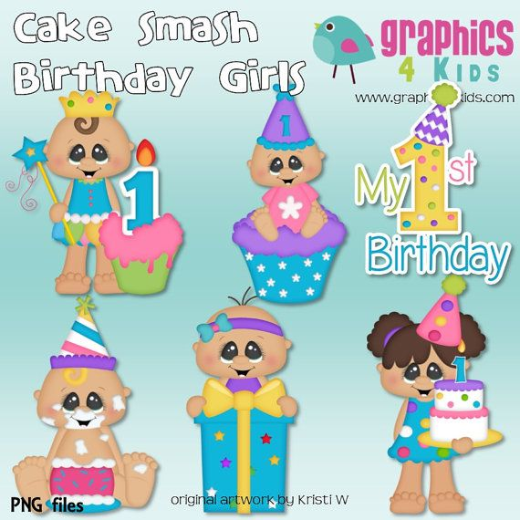 Smashed Cake Clipart : 259 best images about Birthday clip on Pinterest