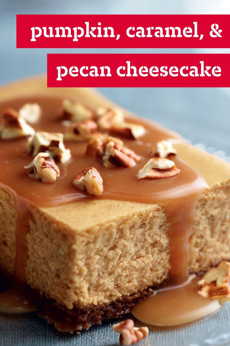 crafts holiday ideas pecan cheesecake gingersnap crust caramel pecan ...