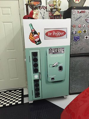 Vintage Dr Pepper vending machine refrigerator wrap sticker Green - Rm wraps Store - 1