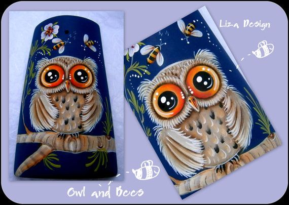 E-pattern : Owl and Bees. Liza Design