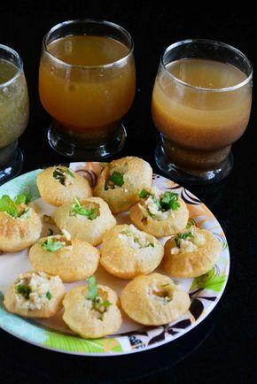 Pani Puri With Flavoured Pani