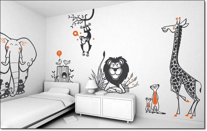 Çocuk odası için duvar sticker modelleri! Hayvan desenli çocuk odası duvar dekorasyonu! #cocukodasi #duvardekorasyonu #dekor #cocukodasidekoru http://www.hobidekorasyon.com/2017-cocuk-odasi-duvar-kagidi-modelleri/