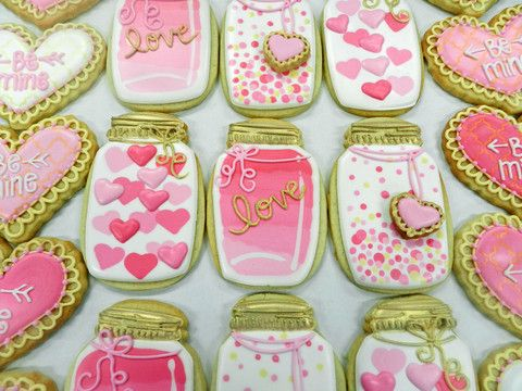Flour Box Bakery — How to Decorate a Mason Jar Cookie